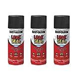 Rust-Oleum 265494A3 LeakSeal Flexible Rubber Coating Spray, 3 Pack, Black, 3 Count