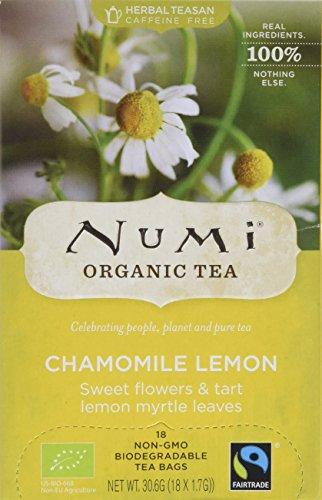 Numi Organic Chamomile Lemon - Sweet Meadows 18 Beutel, 3er Pack (3 x 31 g) - Bio
