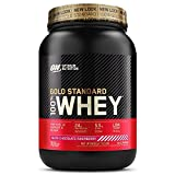 Optimum Nutrition Gold Standard Whey Protein Powder Muscle Building Supplements with Glutamine and Amino Acids, White Chocolate Raspberry, 29 Servings, 900 g