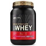 Optimum Nutrition ON Gold Standard 100% Whey Proteína en Polvo Suplementos Deportivos, Glutamina y Aminoacidos, BCAA, Chocolate Blanco y Frambuesa, 30 Porciones, 900 g, Embalaje Puede Variar