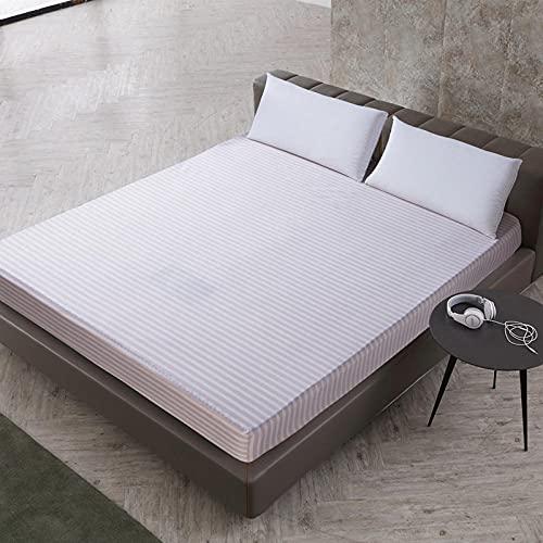DSman Protector de colchón de Rizo algodón y Transpirable Impresión de sábanas a Prueba de Agua y a Prueba de Polvo -14_180cmX200cmX30cm