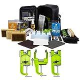 DEMON UNITED Elite Ski and Snowboard Tune Kit- Includes 3 pcs Metal Vise, Iron, 2.25lbs of Wax, Apron and Brush Kit