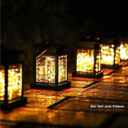 Lámparas solares para exteriores decorativas, farolillos solares Seeway para colgar al aire libre con 20 LED,...