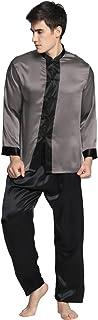 LilySilk Men's Full Length Exotic Silk Pyjamas Set 22 Momme Pure Silk