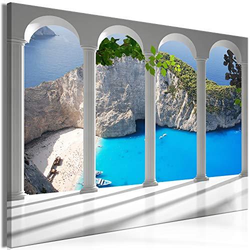 murando - Bilder Fensterblick 90x60 cm Vlies Leinwandbild 1 TLG Kunstdruck modern Wandbilder XXL Wanddekoration Design Wand Bild - Strand Meer Zakynthos Landschaft Natur c-C-0361-b-a