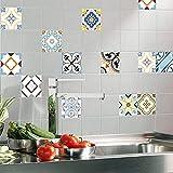 aipipl 12 unids/Set de Pegatinas para Azulejos, Pegatinas de PVC para Pared, Pegatinas para Suelo, para Salpicaduras de baño, decoración del hogar DIY, 20 20 m