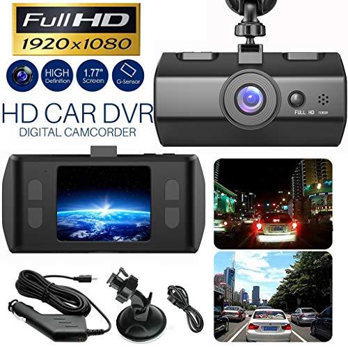HD 1080P Night Vision Car DVR Vehicle Camera Video Recorder Motion Detection, Parking Monitoring, G-Sensor, 170° Wide Angle, Loop Recording Dash Cam Night Vision 1.7 inch (Black)