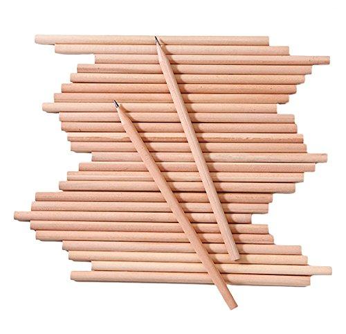 Fablcrew – Lote de 100 lápices de madera HB natural para niños, papelería, oficina escolar, 100 unidades