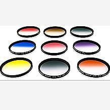 55mm Graduated Color Filters Kit 9 Pieces Gradual Colour Lens Filter Kit Set Accessory , HD Multicoated Graduated Color Filter Kit (55)