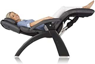 Perfect Chair Human Touch PC-420 Live Manual Black Matte Zero-Gravity Recliner Fluid-Cell Cushion Memory Foam Jade Heat - Black Premium Leather - in-Home White Glove Delivery