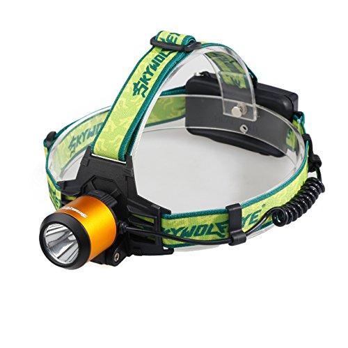 Nourich - Linterna Frontal LED, Muy Brillante, 5000 LM XM-L T6 LED, Ideal para Correr, Caminar, Acampar, Leer, Correr, para niños y más