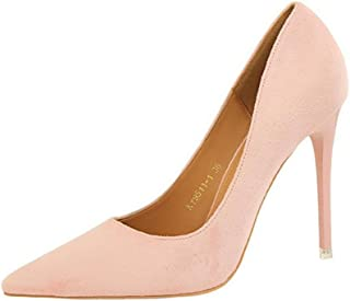 lcky Matte Shoes Women Fashion Tip Toe Stiletto Heels Wedding Shoes Party Shallow