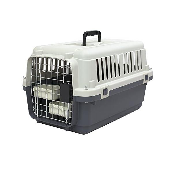 Plastic Kennels Rolling Plastic Wire Door Travel Dog Crate