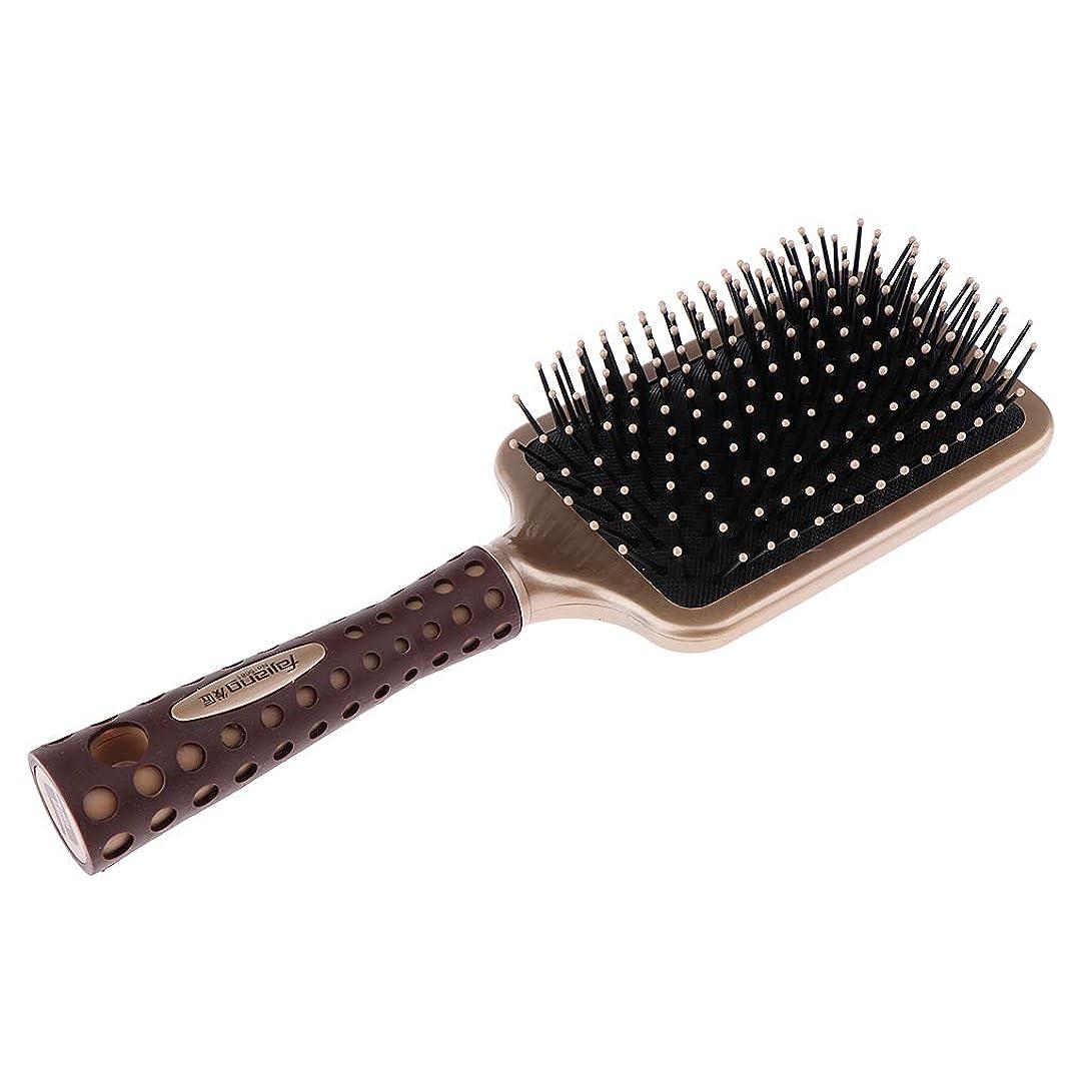意欲飢えカバーB Baosity 静電防止櫛 クッションヘアブラシ 頭皮マッサージ プロ ヘアーサロン 美容師 2サイズ選べ - L