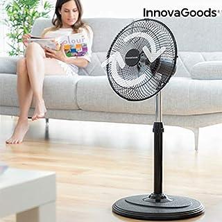 InnovaGoods IG814236 Ventilador de Pie Oscilante 360º Ø 30 cm 60W Negro
