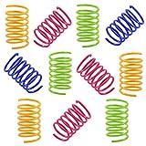 NATUCER Juguete Colorido Interactiva para Gato, Muelles en Espiral de Plástico para Mascotas,...