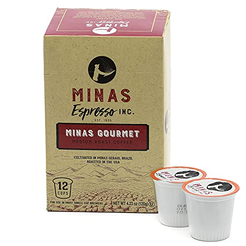 Minas Medium Roast Coffee pods 12 Count Single Serve coffee pods for k cup Brazilian coffee Makers Compatible with Keurig K-Cup Brewers kpods (1)