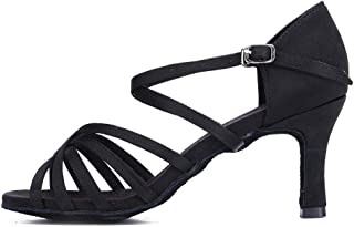 SWDZM Women's Standard Latin/Chacha/Salsa/Rumba Dance Shoes Ballroom Model-WZJ