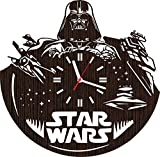 Absolutely Unique Gift Wooden Wall Clock Christmas for Men Women Kids mom dad Girls Fans Darth Vader Superhero Cosplay Costume mask Comic Birthday Party Supplies Decorations Home Vinyl