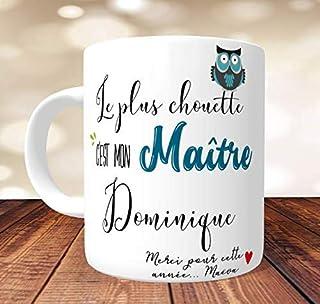 Mug Le plus chouette Maître à personnaliser - Idée Cadeau pour le maître d'école- Mug chouette maitre