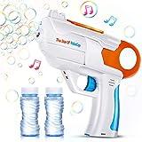 EPCHOO Seifenblasenpistole, LED Seifenblasen Pistole mit Sound Bubble Maschine Pistole mit 2x50ml Seifenblasenlösung, Seifenblasenmaschine Spielzeug Pistole Bubble Gun für Kinder & Erwachsene