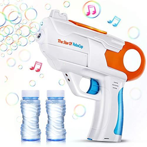 EPCHOO Seifenblasenpistole, LED Seifenblasen Pistole mit Sound Bubble...