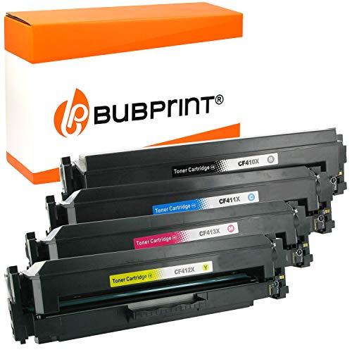4 Bubprint Toner kompatibel für HP 410X CF410X CF411X CF412X CF413X für Color LaserJet Pro M452 M452DN M452DW M452NW MFP M377DW M477 M477FDN M477FDW M477FNW