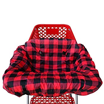 Shopping cart Covers for Baby | High Chair and Grocery Cover for Babies | Infants |Toddlers Trolley Seat for Boys and Girls  Buffalo Plaid