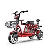 Bicicleta eléctrica, Scooter de Movilidad de Viaje de 12 Pulgadas y 3 Ruedas, Bicicleta eléctrica...