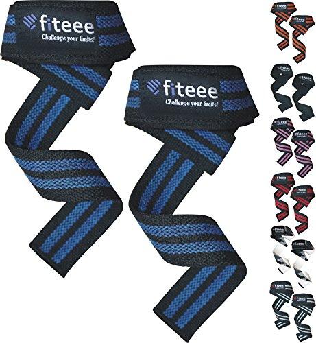 Bout3 Fiteee professionele straps (gevoerd) polsbandage 60 cm polssteun voor fitness, gym bodybuilding en krachttraining - voor vrouwen en mannen - 2 jaar garantie