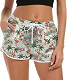 Freshhoodies Shorts de Baño Mujer 3D Flamenco Short Deportes Secado Rápido Baño Pantalones Cortos de Natación con cordón Ajustables XL