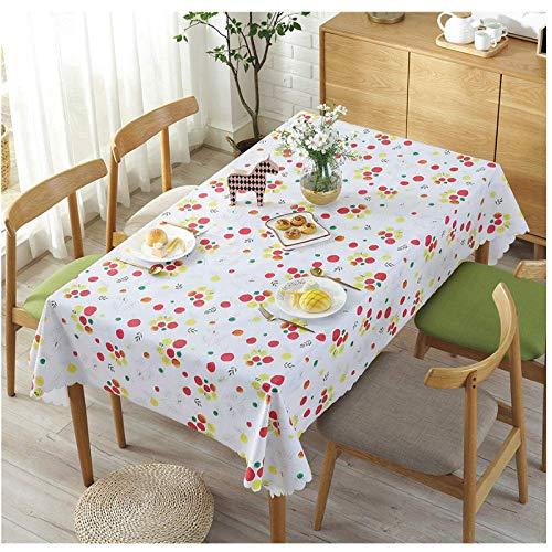 XIAOE Rectángulo Cubierta de Mesa Impermeable Mantel de plástico Mantel de plástico Limpiar Vinilo Decoración de la Cocina del hogar Cubierta a Prueba de Polvo Toalla Cubierta 120 * 170cm