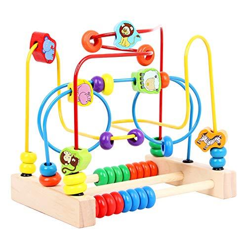 TWFY Juguete Educativo de Lad Maze Bead Maze Shape Sorter Educational Development Toy Regalo para niños Cubo de Actividad de Madera (Color : Multi-colored2, Size : One Size)