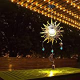 Luces de jardín con energía solar para solares, luces de jardín, luces decorativas para exteriores, de metal, impermeable, solar, para jardín, camino, césped, patio, patio, paisaje
