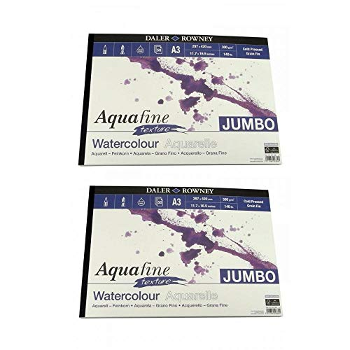 Aquafine Textur Aquarell Jumbo Pad A3 2 Pack Bundle