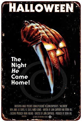 qidushop Halloween Movie Poster Vintage Reproductie Metalen borden Grappig Aluminium Teken voor Garage Home Yard Hek Oprit 30 x 45cm