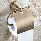 RJSODWL Portarrollos de Papel higiénico de latón Macizo Accessoreis de baño clásico Portarrollos de Papel higiénico