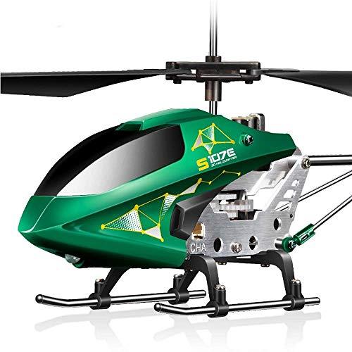YQTXDS Nuevo Mini helicóptero al Aire Libre Radio Control Remoto Giroscopio Incorporado Avión de Juguete Inducción infrarroja Airpl (Juguetes RC)
