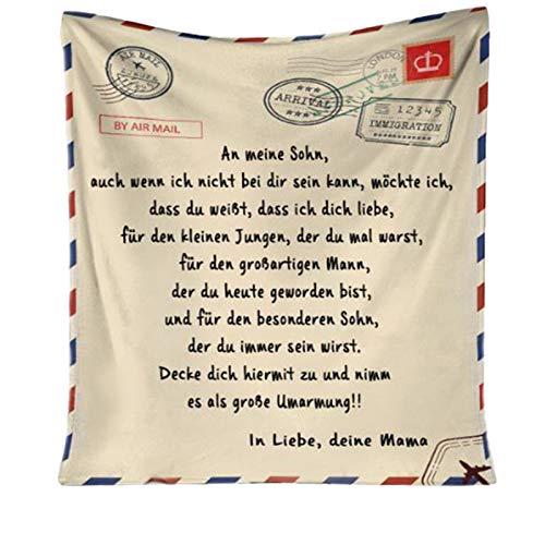 FAMOORE Decke Personalisierte Flanell-Briefdecke An Meine Tochter, Mutter Für Töchter Luftpost Positiv Ermutigen Decke Decke Quiltdecke Werfen (150CMX200CM)