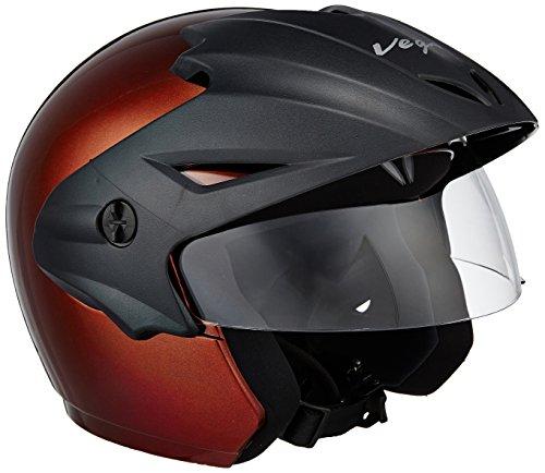 Vega Cruiser CR-W/P-B-M Open Face Helmet (Burgundy, M)