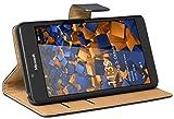 mumbi Echt Leder Bookstyle Hülle kompatibel mit Microsoft Lumia 950 Hülle Leder Tasche Hülle Wallet, schwarz