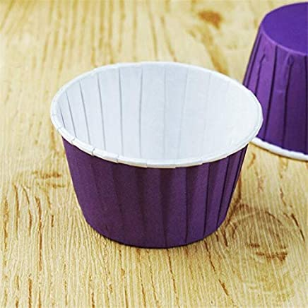 BEESCLOVER 100 Pcs/lot Paper Muffin Cupcake Paper Muffin Cases Cake Cup Stand Mold Kitchen Oven Baking Tools Purple One Size