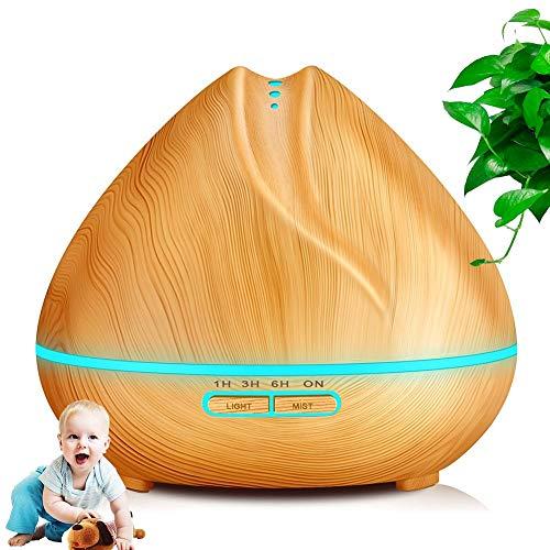 Gaidehua etherische olie voor aromatherapie 400 ml luchtbevochtiger van hout verdamper voor slaapkamer yoga spa