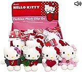 Plüschtier Anhänger mit Sound, kompatibel zu Hello Kitty | Kuscheltier | Plüschtier | Geschenk für Kinder | Mädchen | Jungen | Spielzeug mit Ton | Katze | Cat (1 Stück)