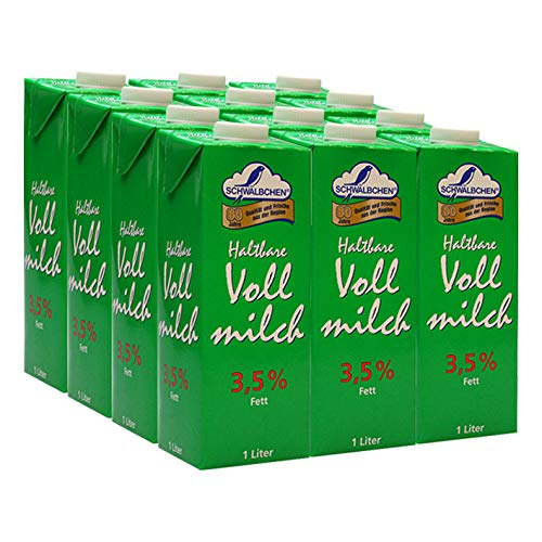 Schwälbchen Haltbare Vollmilch, 3,5% Fett, 12er Pack