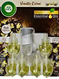 Air Wick Limited Edition Holiday Fragrance, Vanilla Creme, 1 Warmer + 6 Refills