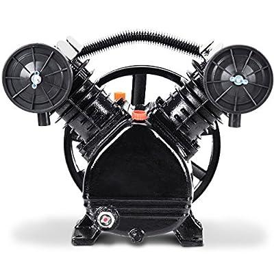 Goplus 3HP 2 Piston V Style Twin Cylinder Air Compressor Head Pump