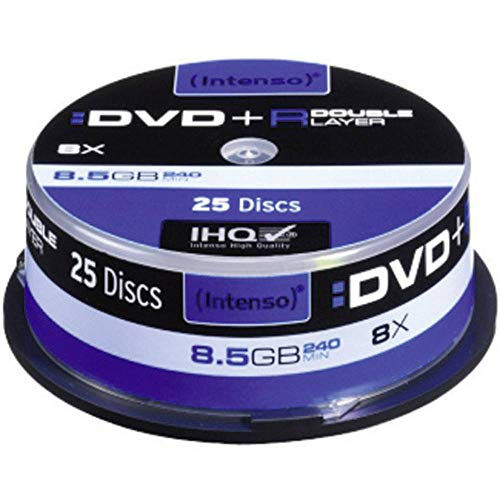 Intenso 25 x DVD+R DL - 8.5 GB 8X - Spindel - Speichermedium
