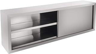 Royal Catering Armoire Murale Cuisine Suspendue Rangement INOX RCHC-160/40 (160x40x65cm, 2 Portes coulissantes, 1 étagère ...