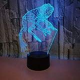 Frog 3D Light Night Lamp Touch Lovely 7 Cambio De Color Lámpara 3D Regalo Para Luces De Habitación De Bebé